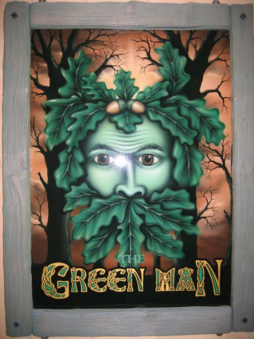 "Andrew Smiths ""Green Man"" Pub Sign © Andrew Smith"