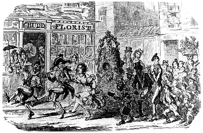 May Day by George Cruikshank from Charles Dickens the First of May 1836