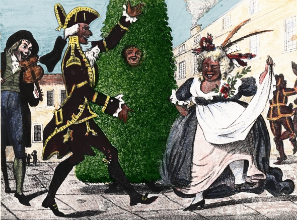 Mayday or Jack in the Green possibly by Isaac Cruikshank published by Laurie and Whittle 1795
