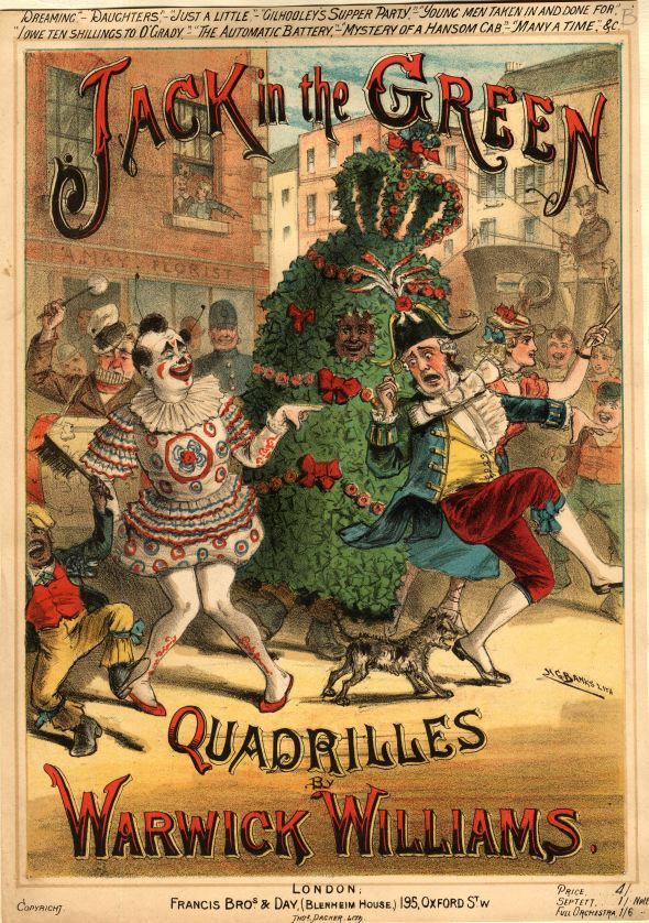 LMG1266148 Sheet music for 'Jack in the Green Quadrilles' by Warwick Williams, published by Francis Bros. & Day (colour litho) by Banks, H. G. (19th century); © Leeds Museums and Art Galleries (Abbey House) UK; English, out of copyright